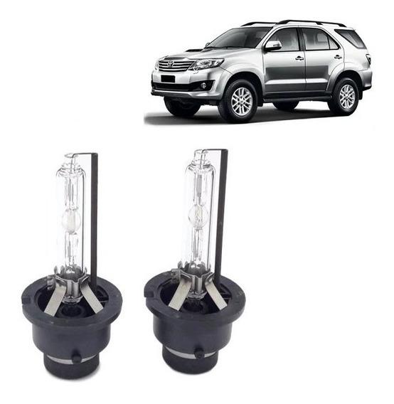 Kit Par de Lâmpadas Xenon D4s 5500K Toyota hilux SW4 2012/2015 Farol Baixo Rayx