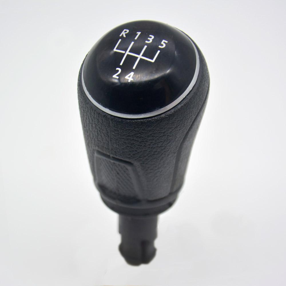 Manopla Bola de Câmbio Volkswagen Saveiro G5 G6 Lente Preta com Aro Cromado Nat