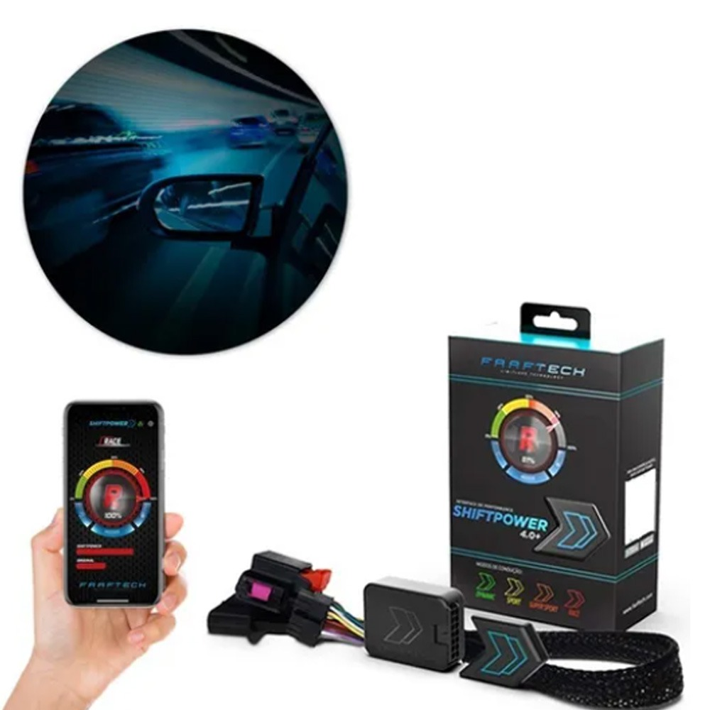 Módulo Acelerador Toyota SW4 2016 2017 2018 2019 2020 2021 Pedal Shiftpower Bluetooth 4.0 Com App