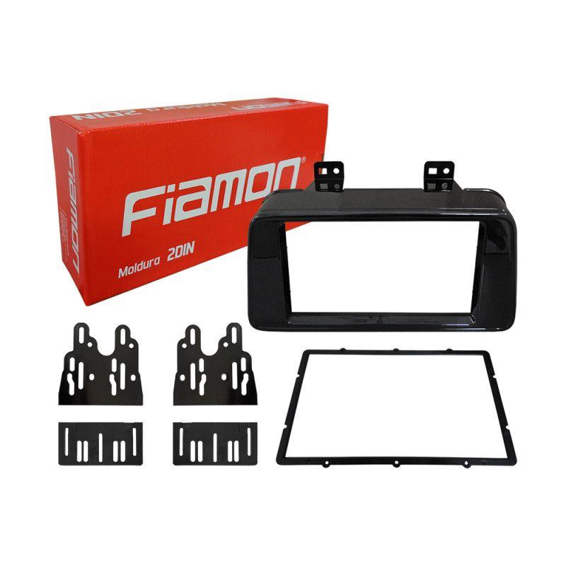 Moldura Fiamon 2 Din Black Piano Nissan Kicks