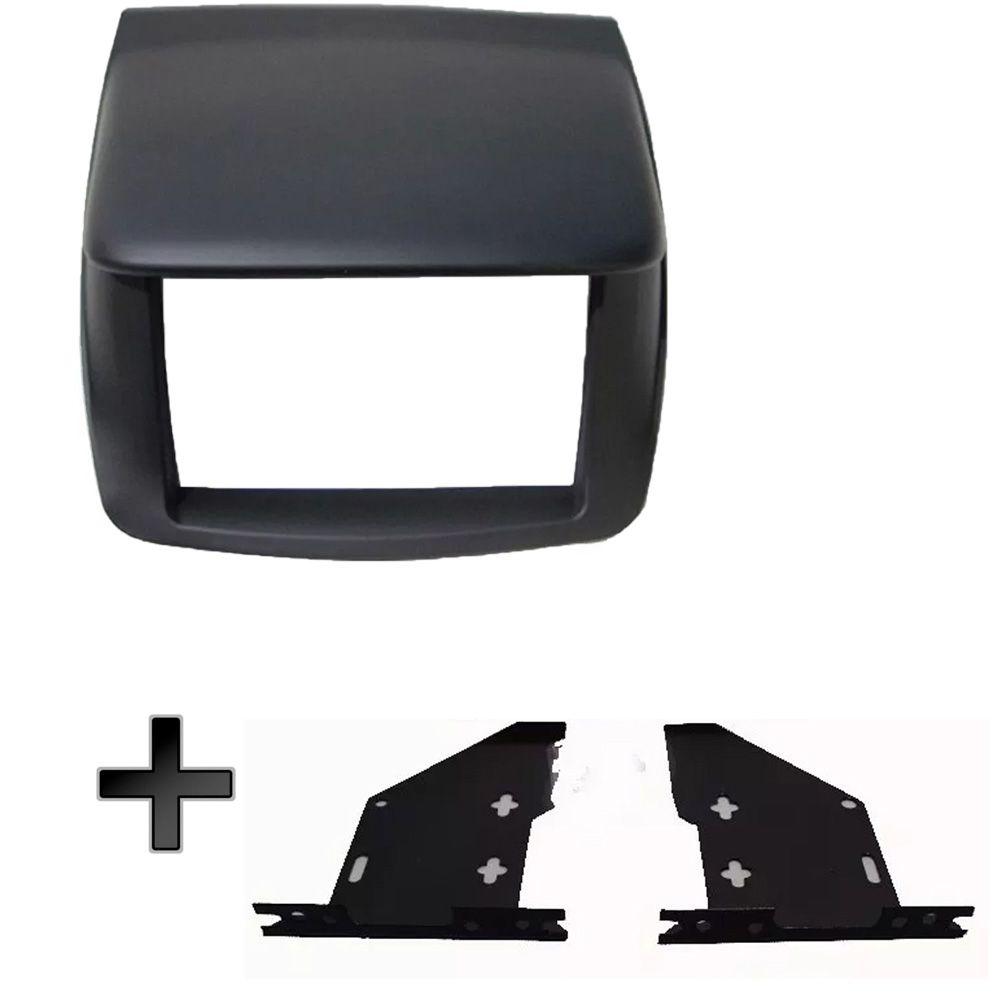 Moldura L200 Triton Para Dvd + Kit Fixação Lateral Em Metal