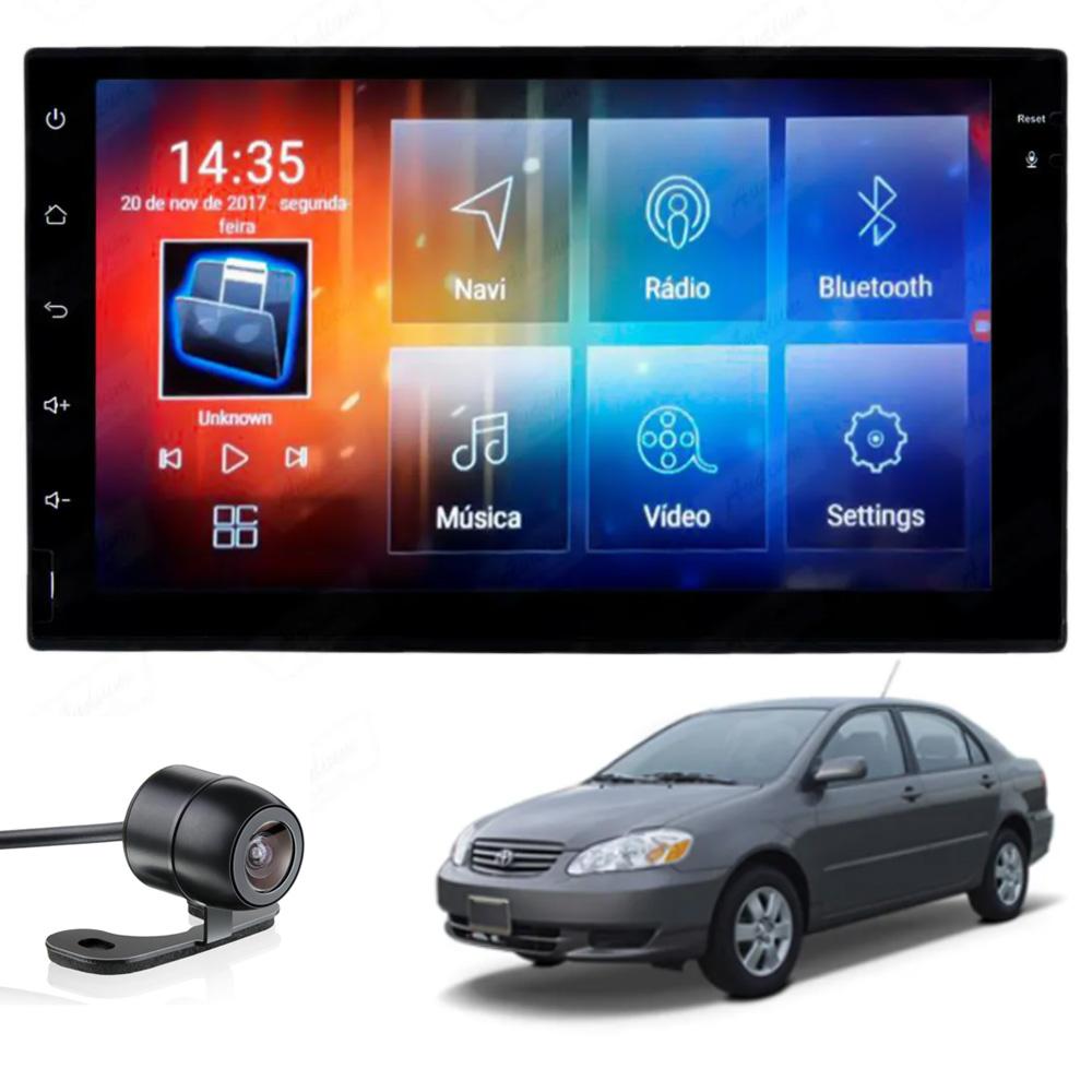 Multimídia Corolla 2003 2004 2005 2006 2007 2008 Tela 7'' Android Gps Câmera de ré TV 2GB Aikon