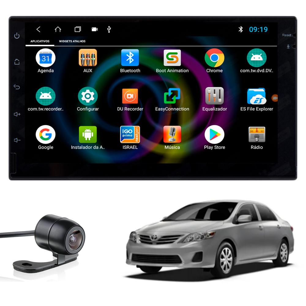 Multimídia Corolla 2009 2010 2011 2012 2013 2014 Tela 7'' Android Gps Câmera de ré TV Digital 1GB Aikon