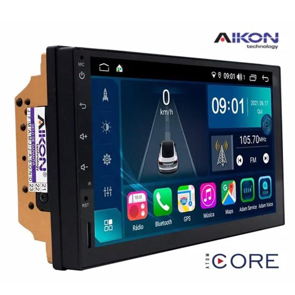 Multimídia Fit 2009 2010 20112012 2013 Tela 7'' Atom Core CarPlay Android Auto Gps Câmera de ré e Frontal TV Digital 2GB