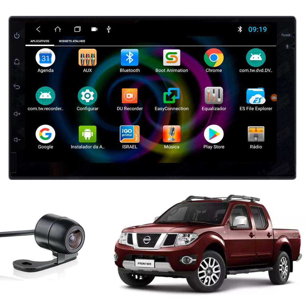 Multimídia Frontier 2008 2009 2010 2011 2012 2013 2014 2015 Tela 7'' Android Gps Câmera de ré TV Digital 1GB Aikon
