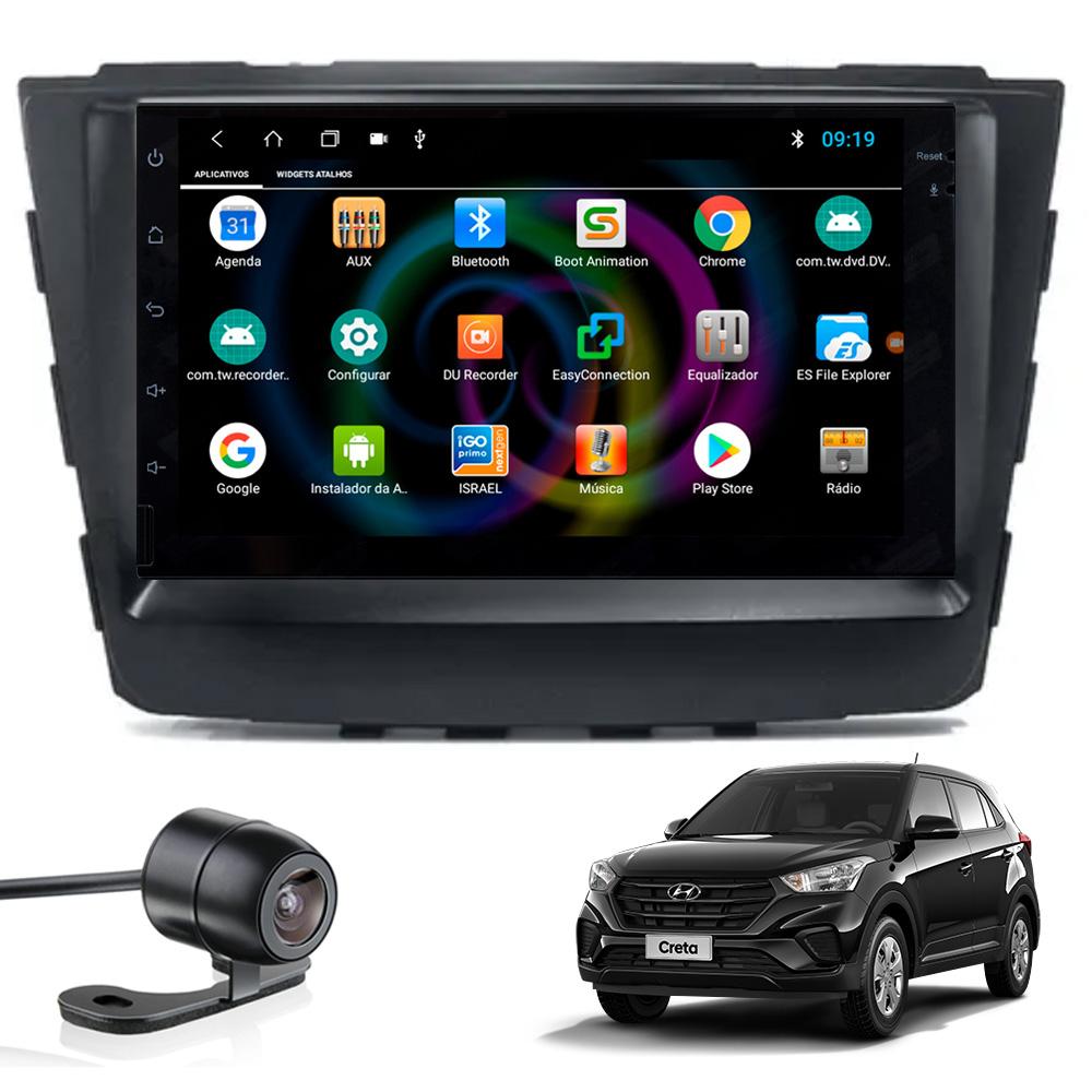 Multimídia Hyundai Creta PCD Tela 7'' Android 8.1 Gps Câmera de ré TV Digital 1GB Aikon