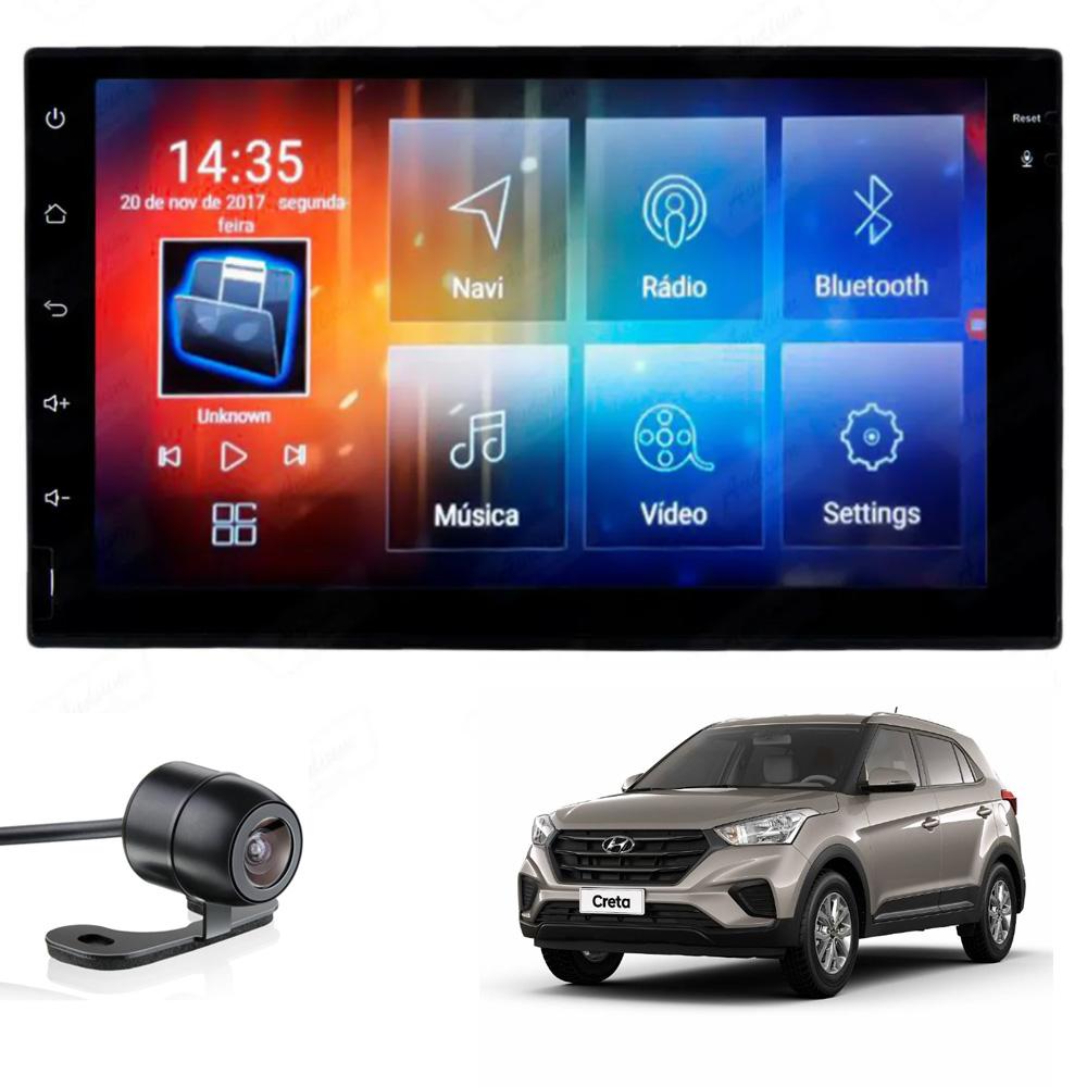 Multimídia Hyundai Creta Tela 7'' Android Gps Câmera de ré TV 2GB Aikon