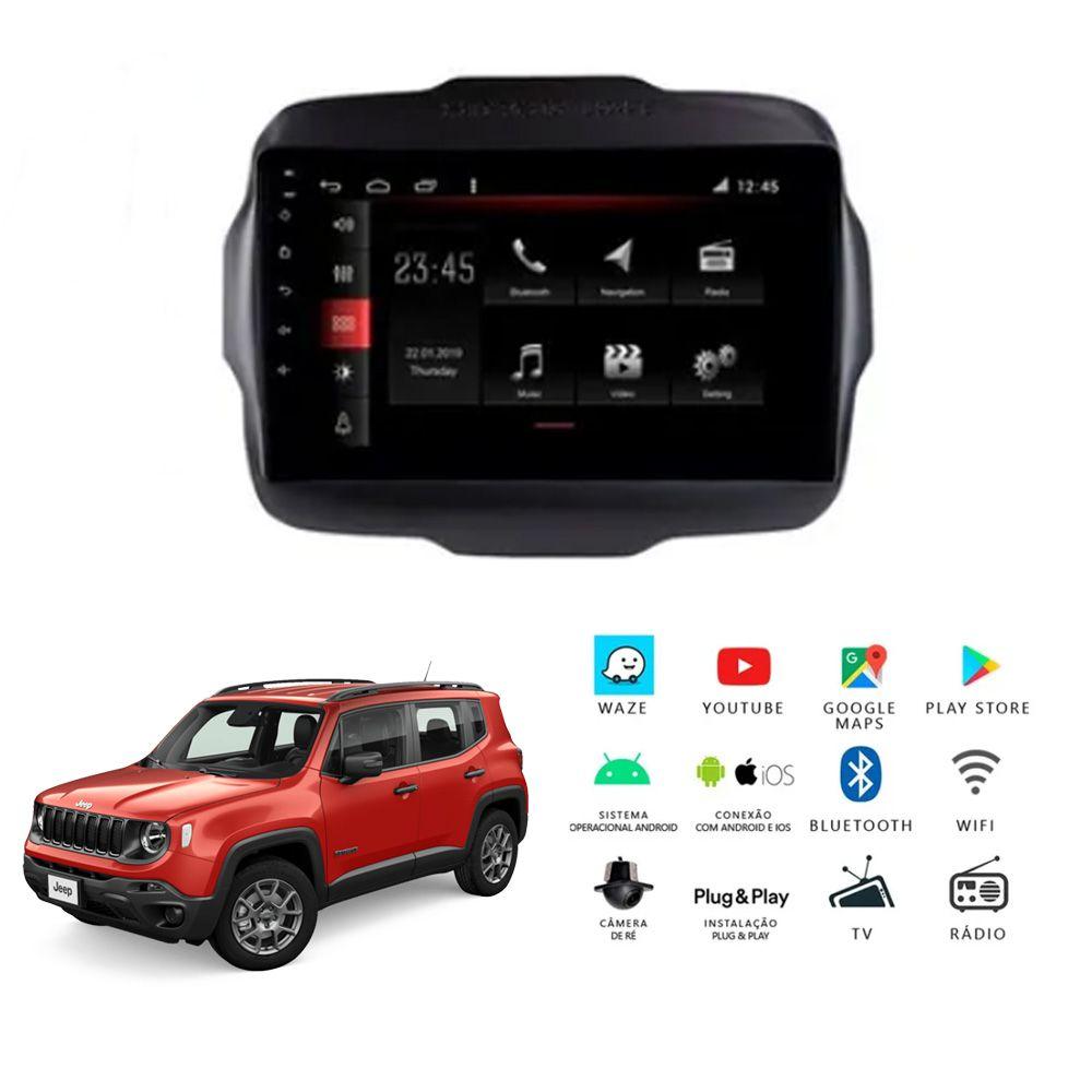 Multimídia Jeep Renegade PCD 2018 a 2020 Tela 9