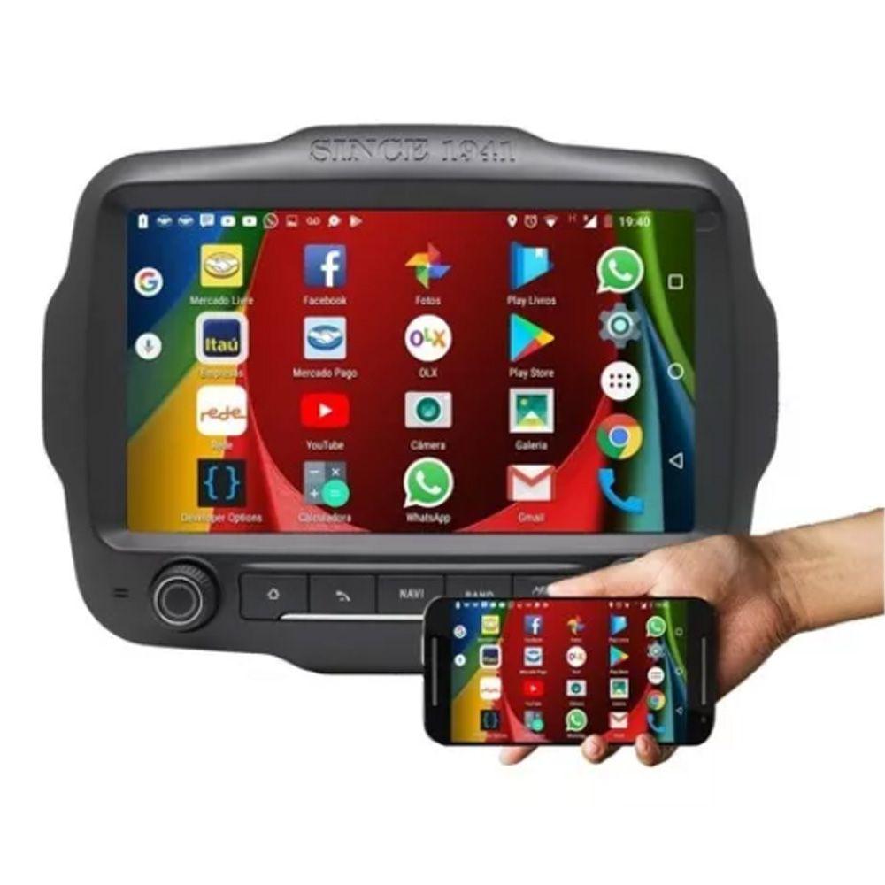 Multimídia Jeep Renegade (TODOS) Espelha iPhone Bluetooth Gps Wifi