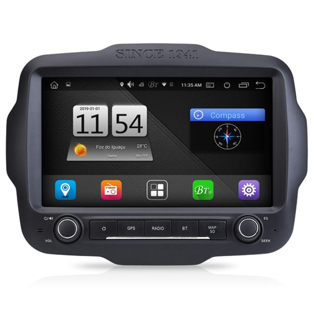 Multimídia M1 Jeep Renegade PCD Android 8.1 GPS Espelhamento Tv Full HD