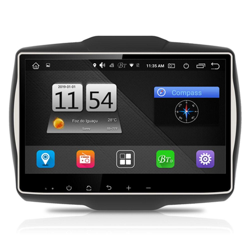 Multimídia M1 Jeep Renegade PCD Android 9.0 Tela de 10