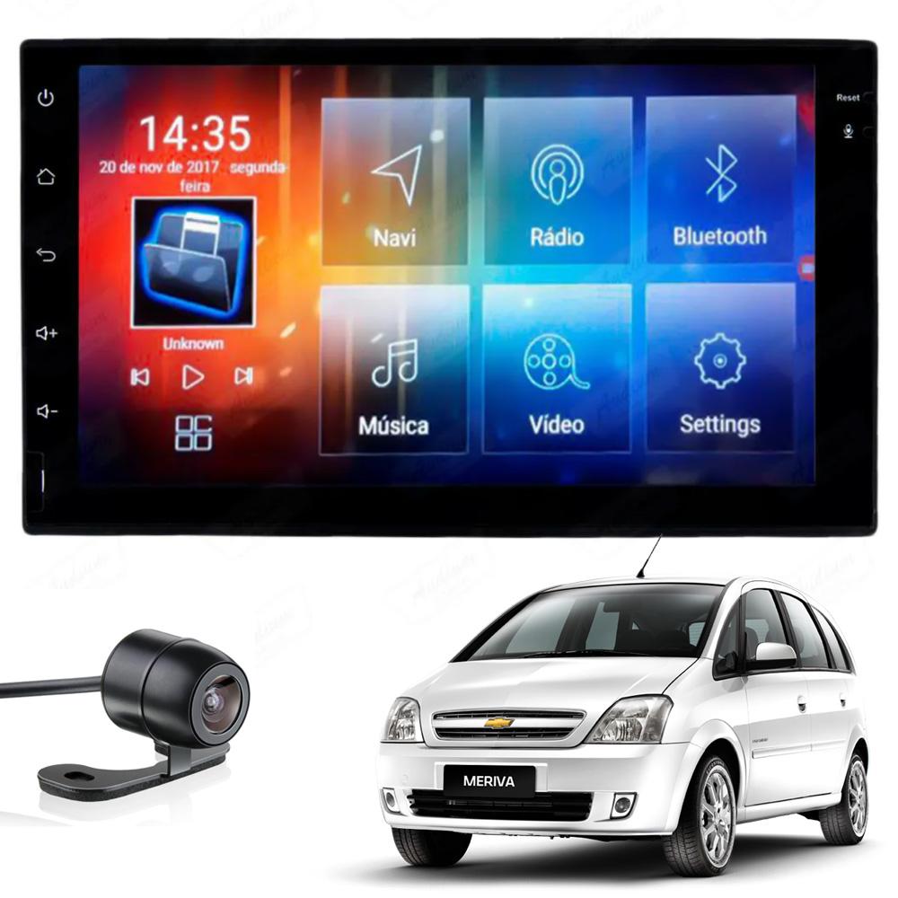 Multimídia Meriva todos os anos Tela 7'' Android Gps Câmera de ré TV 2GB Aikon