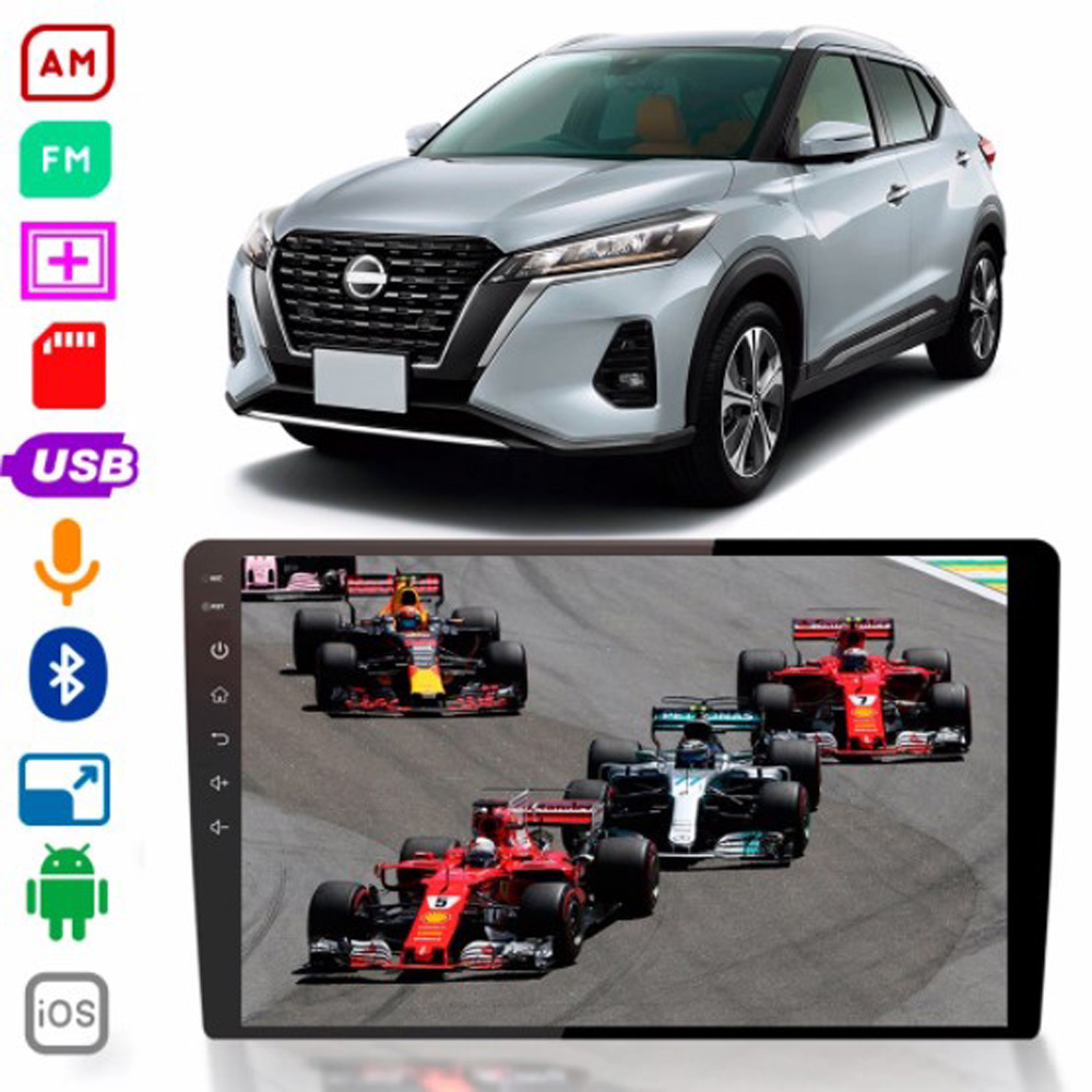 Multimídia Nissan Kicks  Twincan Tela de 9