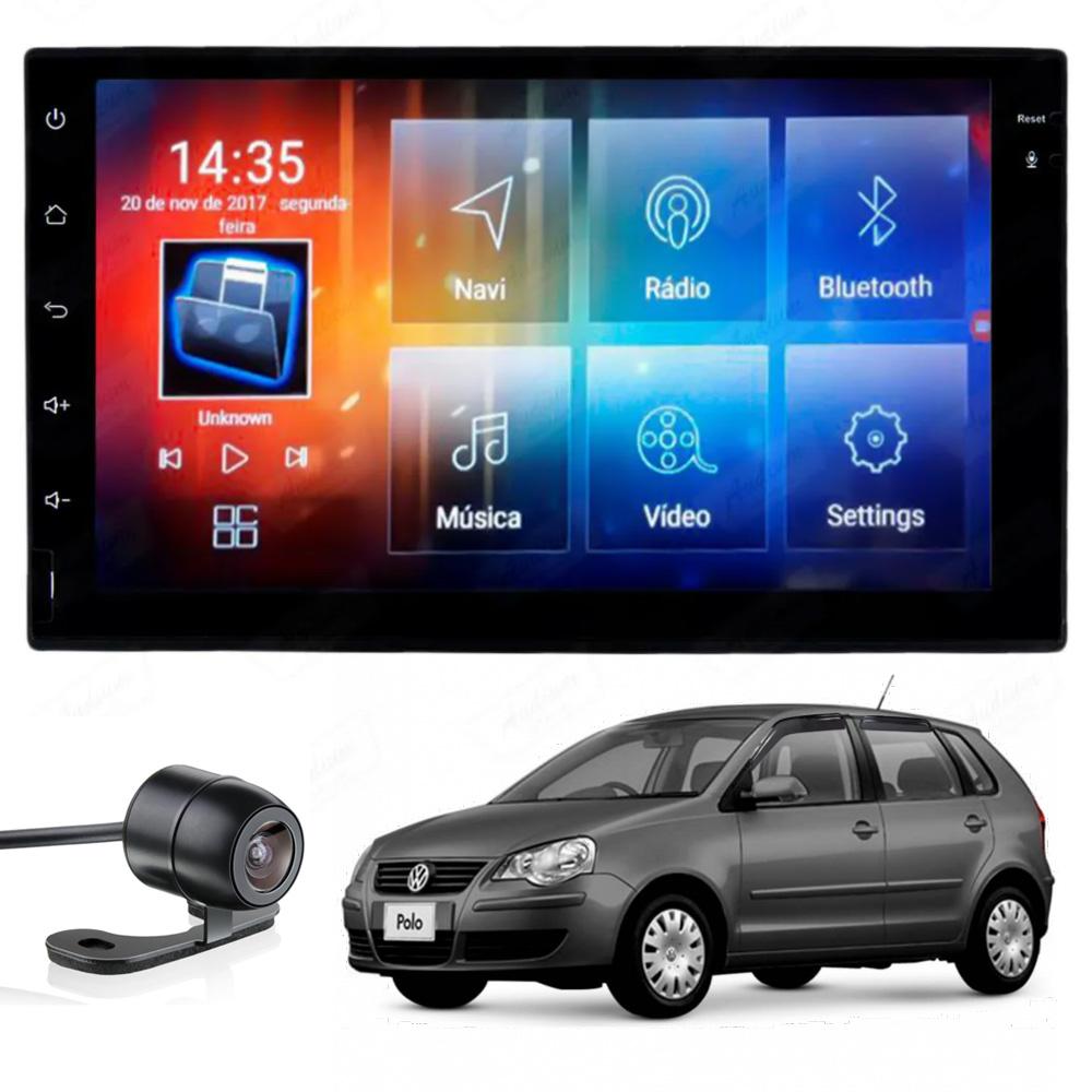 Multimídia Polo 2004 2005 2006 2007 2008 2009 2010 2011 2012 Tela 7'' Android Gps Câmera de ré TV 2GB Aikon