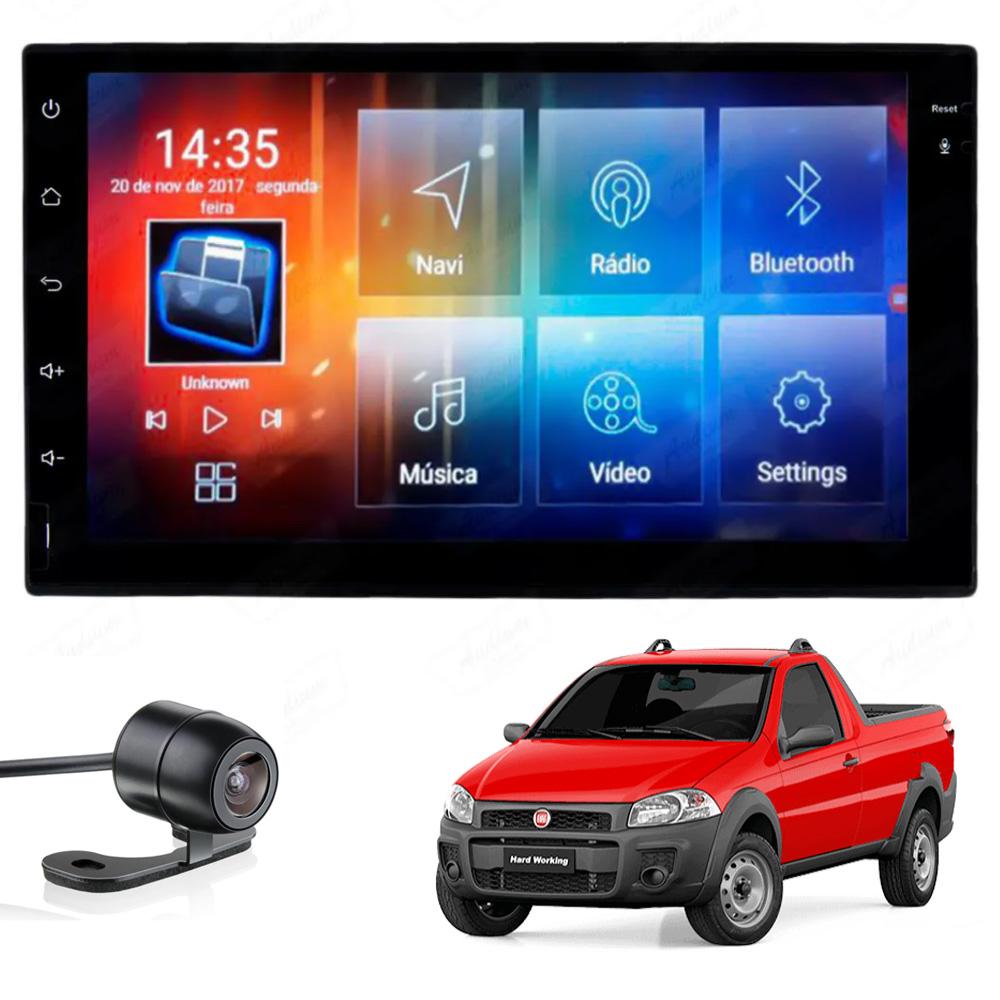 Multimídia Strada 2013 2014 2015 2016 2017 2018 2019 2020 Tela 7'' Android Gps Câmera de ré TV 2GB Aikon