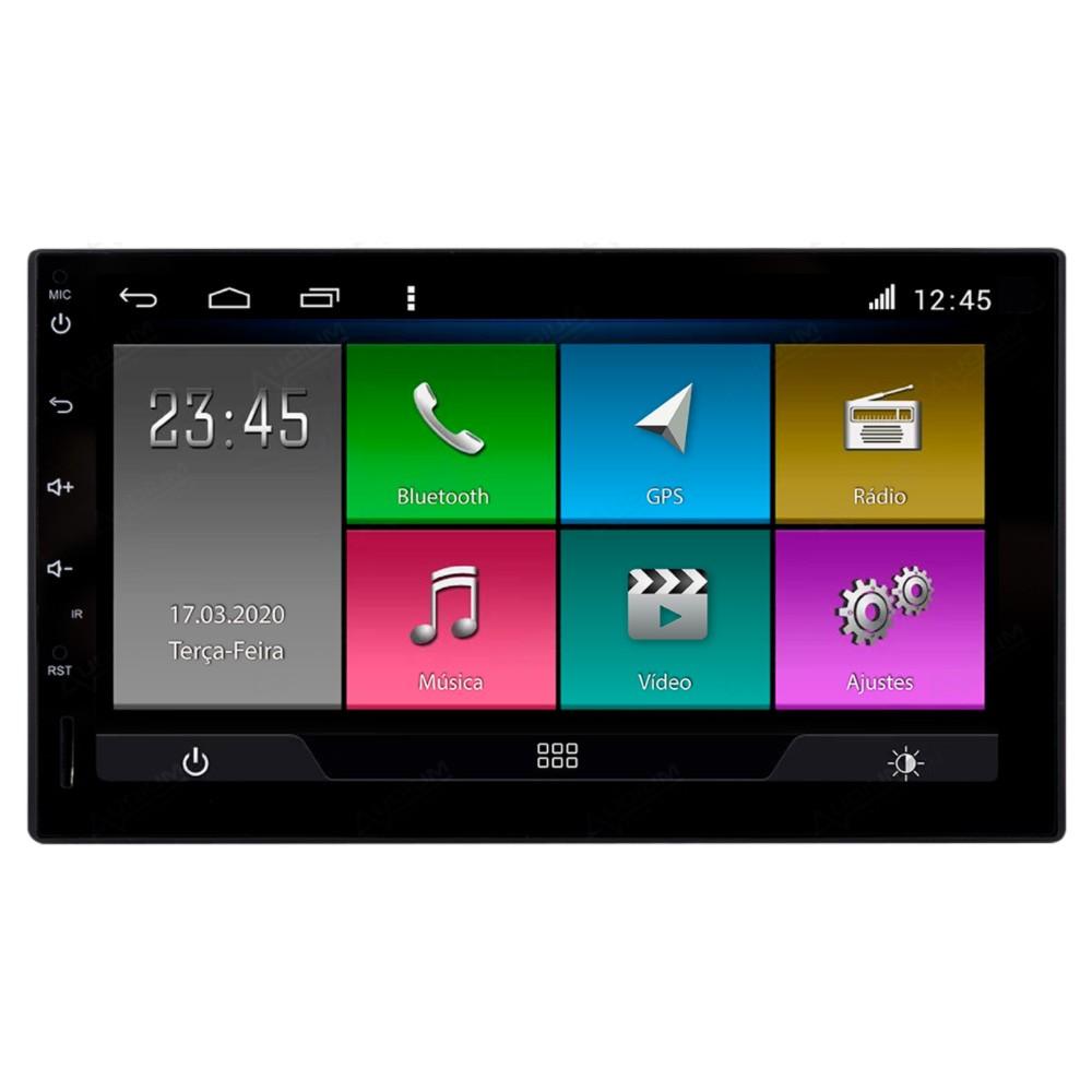 Multimídia Universal Aikon Tela 7'' Android Gps Câmera de ré TV Digital