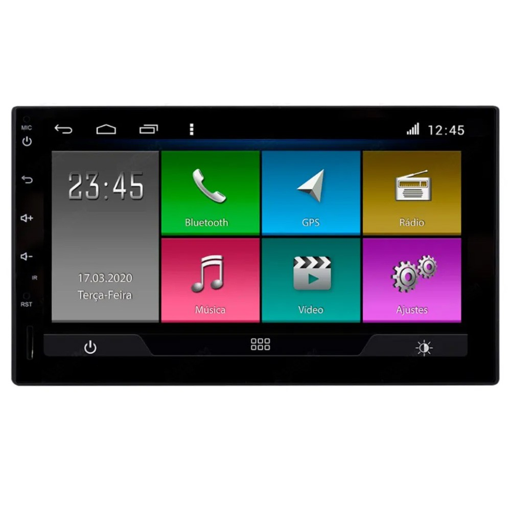 Multimídia Universal Aikon Tela 7'' Android Gps Câmera de ré Sem TV