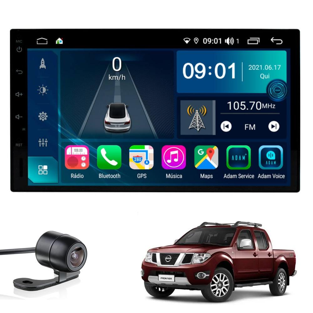 Multimídia Universal Aikon Tela 7'' Atom Core CarPlay Android Auto Gps Câmera de ré e Frontal TV Digital 2GBTV Digital 2GB