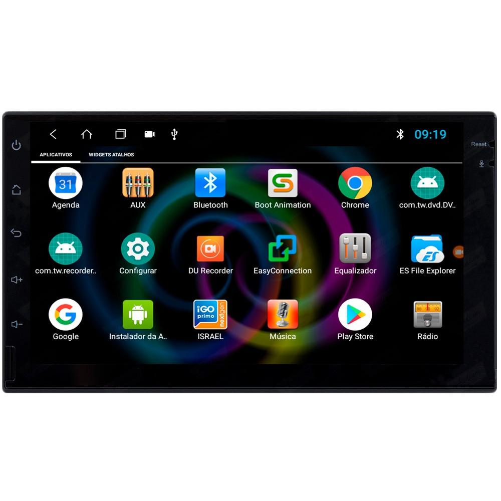 Multimídia Universal Tela 7'' Android 8.1 Gps Câmera de ré TV Digital 1GB Aikon
