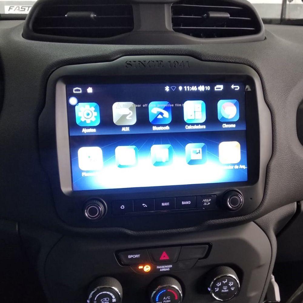Multimídia Winca S200+ Jeep Renegade PCD Espelhamento Android 9.0 TV FULL HD