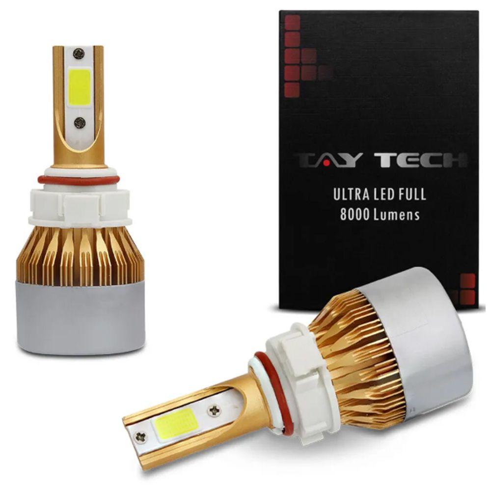 Par Lâmpadas Ultra Led Full HB3 6000K 12V e 24V 8000 Lumens