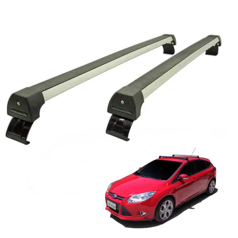 Rack De Teto Focus Hatch e Sedan 2014 2015 2016 2017 2018 2019 Alumínio Long Life