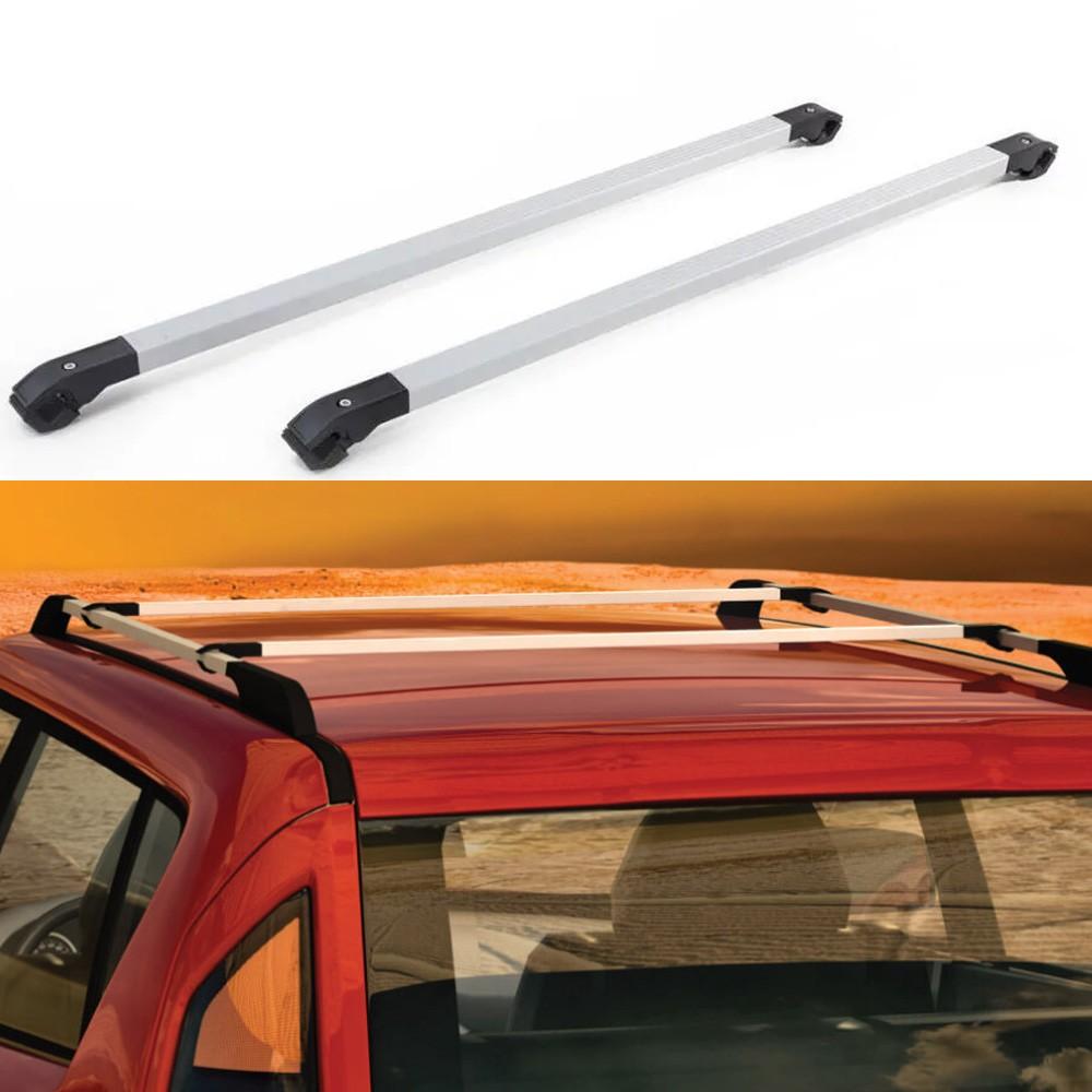 Rack de teto Travessa Universal veículos com longarina Long Life Prata