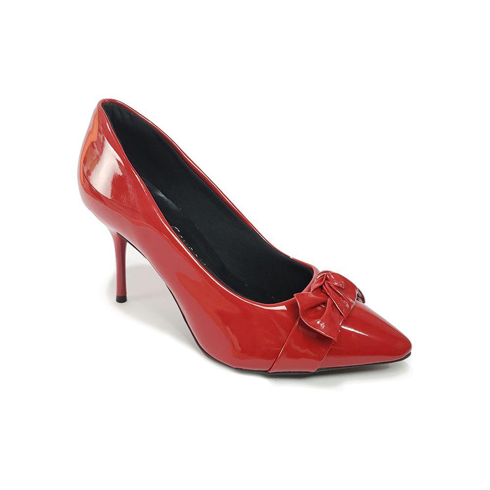 21d30caa3 Sapato Scarpin Crysalis Bico Fino Laço R:51696464 Vermelho - Disalt ...
