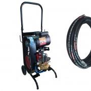 Bomba Lavadora Profissional Alta Pressão Motor 3cv Monofásico 45L Carrinho