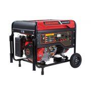 Gerador De Energia 8000w À Gasolina Monofásico 110/220V GG8000-ES Partida Elétrica Kawashima