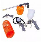 Jogo Kit Acessórios Pintura Pneumáticos 5 Peças Compressor