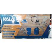 Jogo Kit Acessórios Pintura Pneumáticos 5 Peças Compressor Kala
