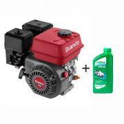 Motor à Gasolina 5,5 Hp 4T Partida Manual B4T-5.5H Branco + Óleo Incluso