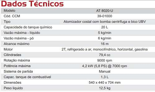 Atomizador 79,4cc Kawashima At8020u Ubv Dengue 20 Lts