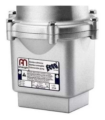 Bomba De Água Submersa Anauger Ecco 1400l + 2 Chave Bóia 110