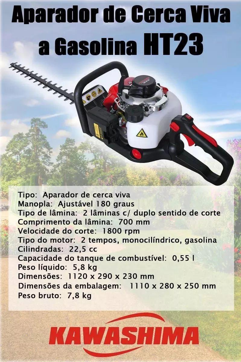 Aparador Podador Cerca Viva Motor Gasolina 2t Kawashima Ht23