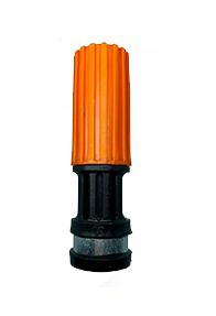 Esguicho Bico Regulavel Lava Jato Auto 1/2 Saída 2,0mm Laranja Hidraflux