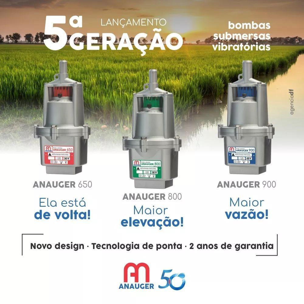 Bomba Aguá Submersa Anauger 800 5g 3/4 380w 110v Mod Novo