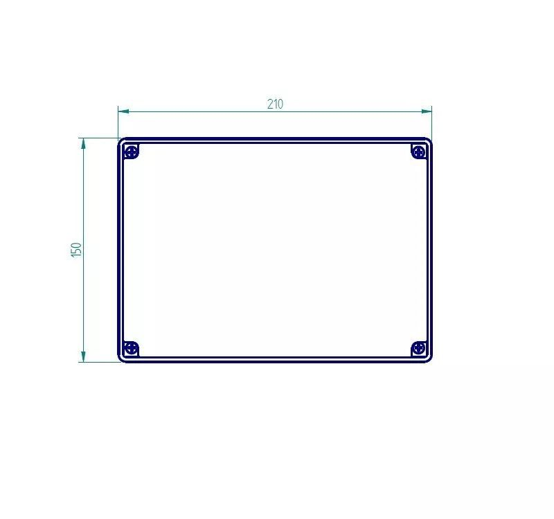 Caixa Plástica De Sobrepor Tampa Opaca Ip65 200x140x140mm