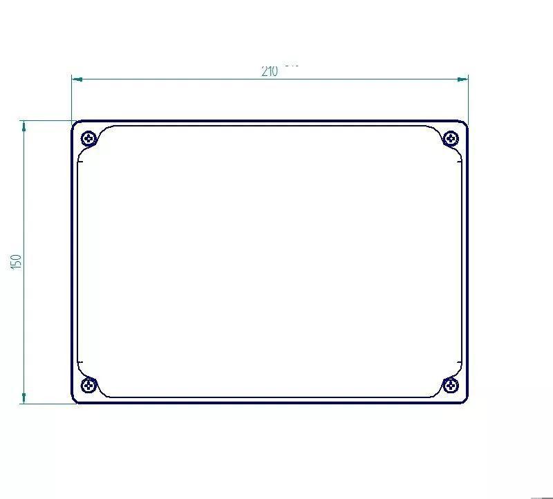 Caixa Plástica De Sobrepor Tampa Opaca Ip65 200x140x90mm
