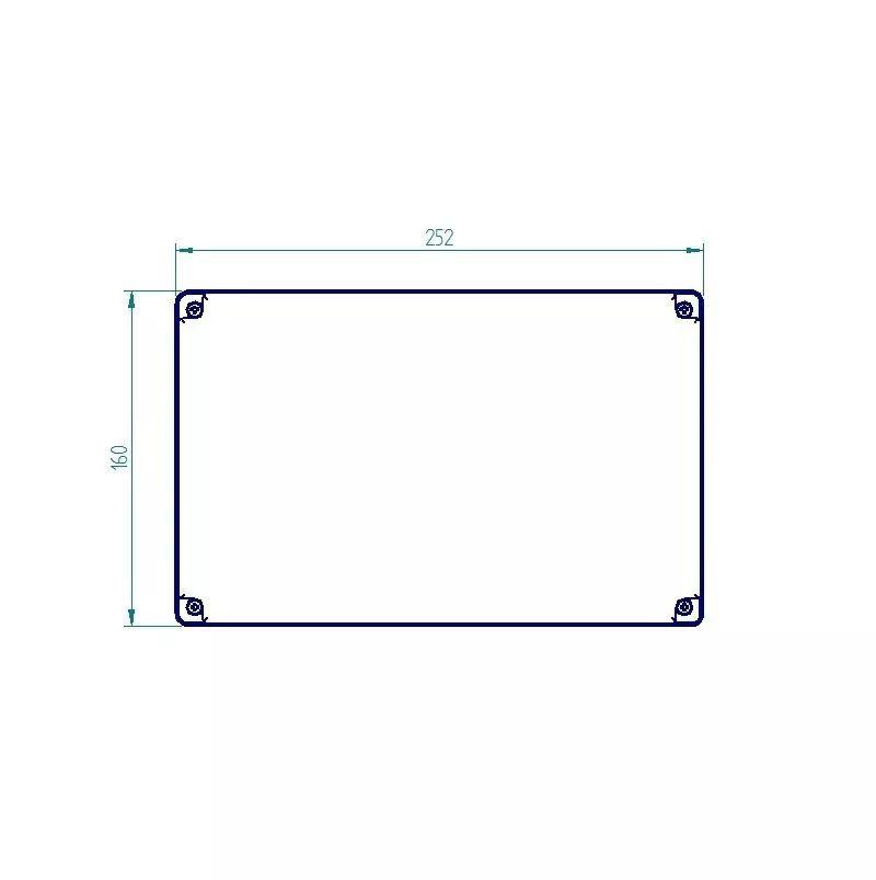 Caixa Plástica De Sobrepor Tampa Opaca Ip65 250x160x120mm