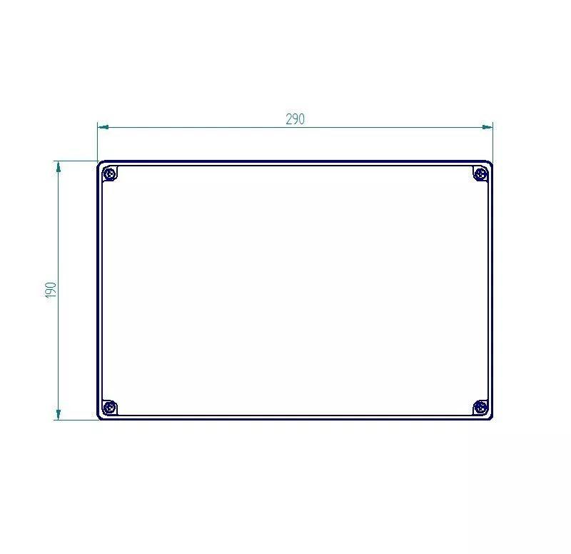 Caixa Plástica De Sobrepor Tampa Opaca Ip65 280x180x140mm