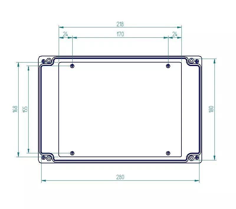 Caixa Plástica De Sobrepor Tampa Opaca Ip65 280x180x90mm