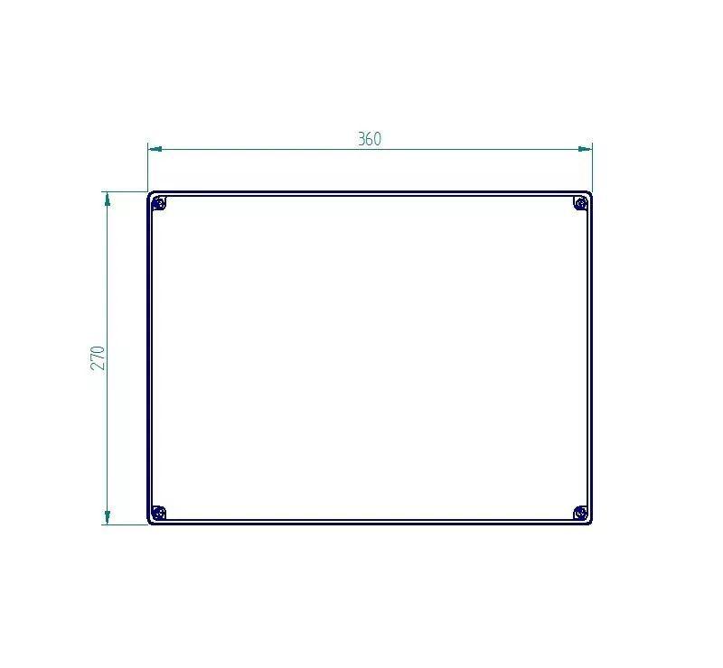 Caixa Plástica De Sobrepor Tampa Opaca Ip65 350x260x170mm