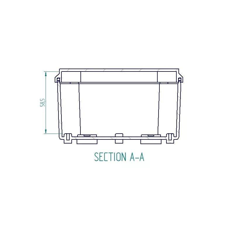 Caixa Plástica De Sobrepor Tampa Opaca Ip66 110x110x60mm