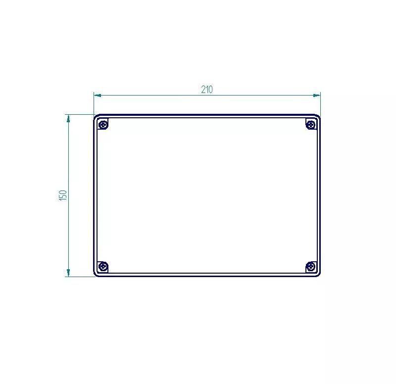 Caixa Plástica De Sobrepor Tampa Transparente 200x140x140mm