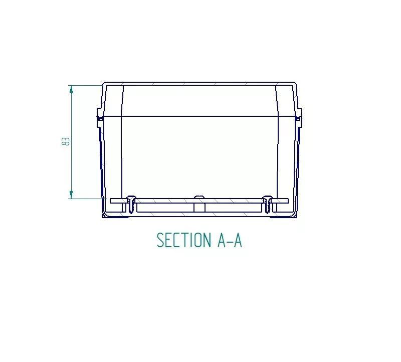 Caixa Plástica De Sobrepor Tampa Transparente 200x140x90mm