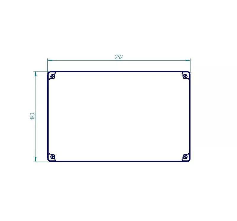 Caixa Plástica De Sobrepor Tampa Transparente 250x160x120mm