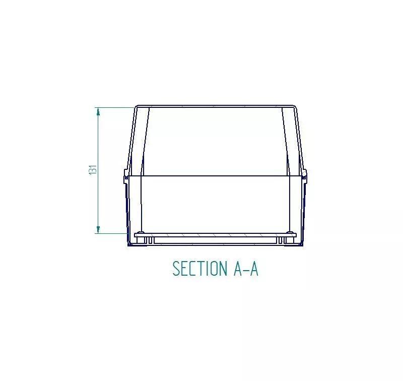 Caixa Plástica De Sobrepor Tampa Transparente 280x180x140mm