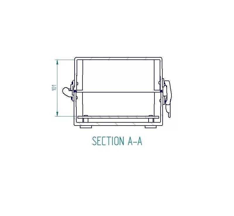 Caixa Plástica Opaca Com Dobradiça Ip65 250x160x120mm